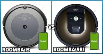 Comparison of Roomba models i3 and 981