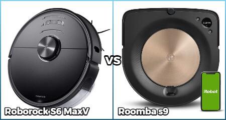 Comparison of Roborock S6 Maxv and Roomba S9 models