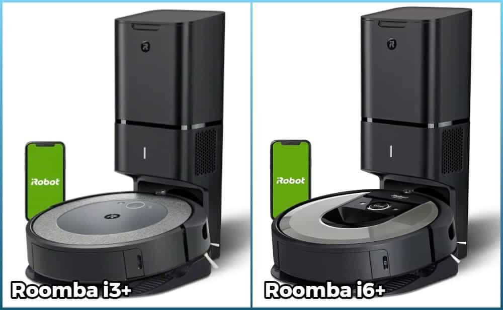 Comparison of Roomba i3+ and i6+ models