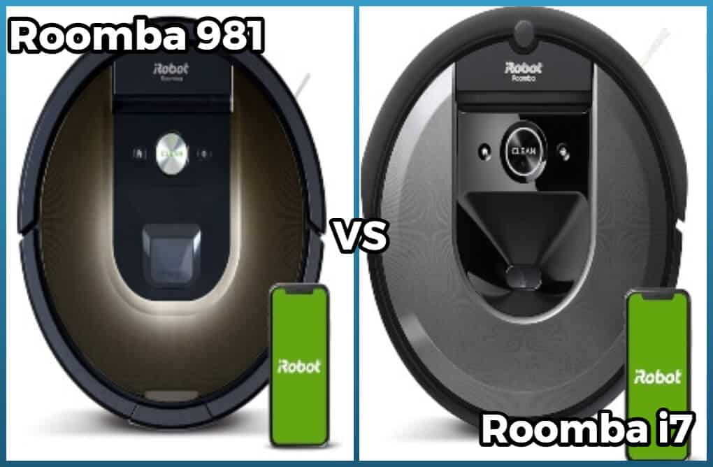 Roomba 981, i7 and i7 Plus models compared