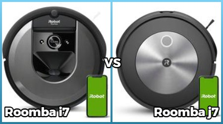 Comparison of roomba i7, j7 models