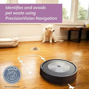 Roomba j7 detects pet waste