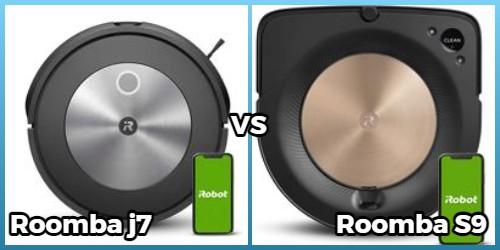 Comparison of Roomba j7, s9 models