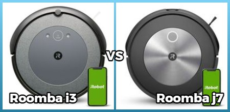 Comparison of i3 and j7 roomba models